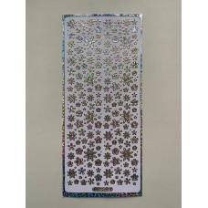 Наклейка контурная №0092, Полевые цветы голография (Серебро)