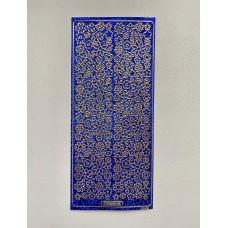 Наклейка контурная №0092, Полевые цветы голография (Синяя)