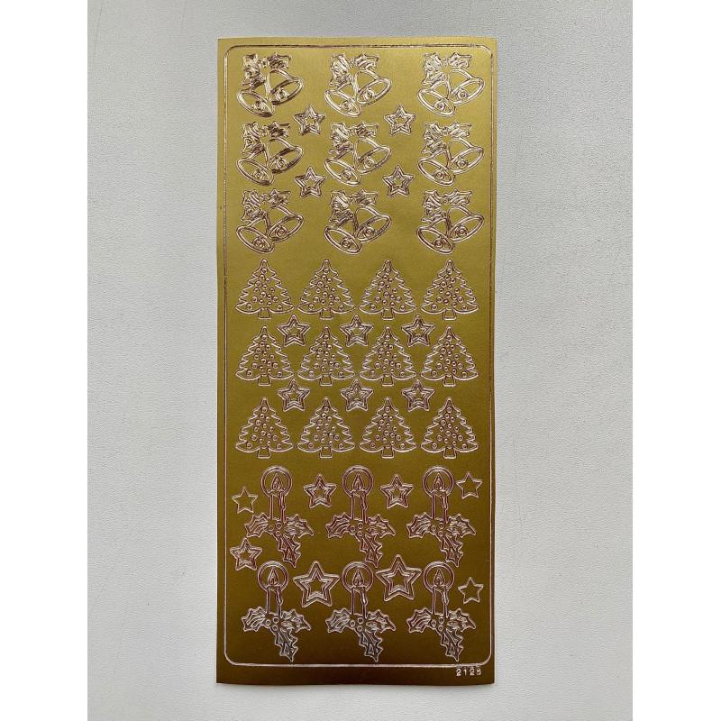 Наклейка контурная №2128, Новогодняя (Золото)