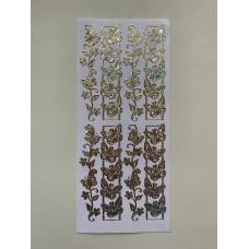 Наклейка контурная №2530, Бабочки - 8, Голография (Серебро)