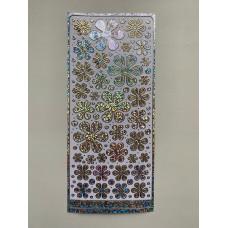 Наклейка контурная №4039, Полевые цветы большие голография (Серебро)