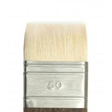 5G2NС Кисть-флейц плоская из волоса белой козы