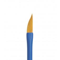 Aqua blue dagger Кисть саблевидной формы из коричневой синтетики