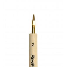 Miniature K2 №2 Кисть плоская из волоса колонка