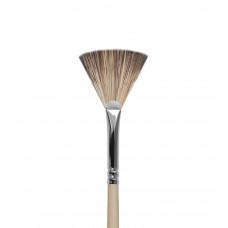 Ktv05 Кисть веерная из синтетики имитирующей волос мангуста