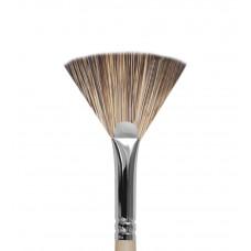 Ktv10 Кисть веерная из синтетики имитирующей волос мангуста